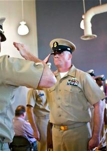 Reporting to the Commanding Officer as a new Chief Petty Officer